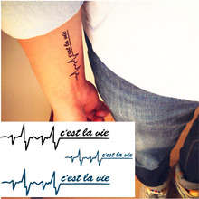 Heartbeat Feeling Flash Tattoo Hand Sticker 10.5x6cm Small Waterproof Henna Beauty Temporary Body Tattoo Sticker