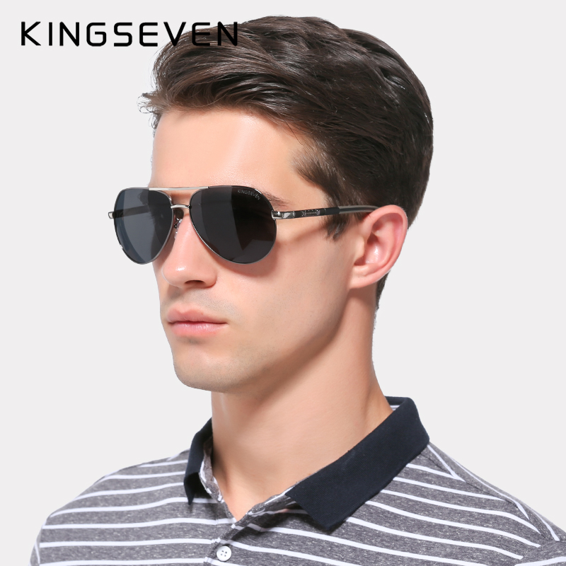 KINGSEVEN Aluminum Magnesium Men's Sunglasses Polarized Men Coating Mirror Glasses oculos Male Eyewear Accessories For Men K725 2