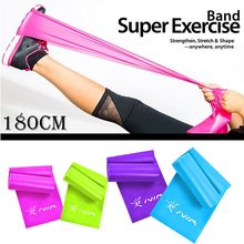 цена 1.8m TPE Resistance Bands Fitness Rubber band for Yoga Pilates Training Expander Elastic Strength Loop Bands for Crossfit Gym онлайн в 2017 году