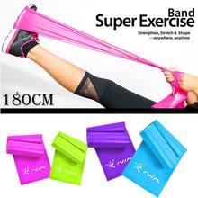 1,8 м TPE резинки для фитнеса, Резиновая лента для йоги, пилатеса, экспандер, эластичная лента для фитнеса, для кроссфита, тренажерного зала