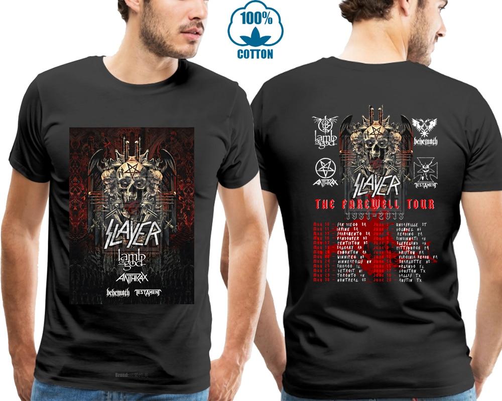 New Slayer Farewell Tour 2018 Men'S Gildan Black T Shirt S 4Xl