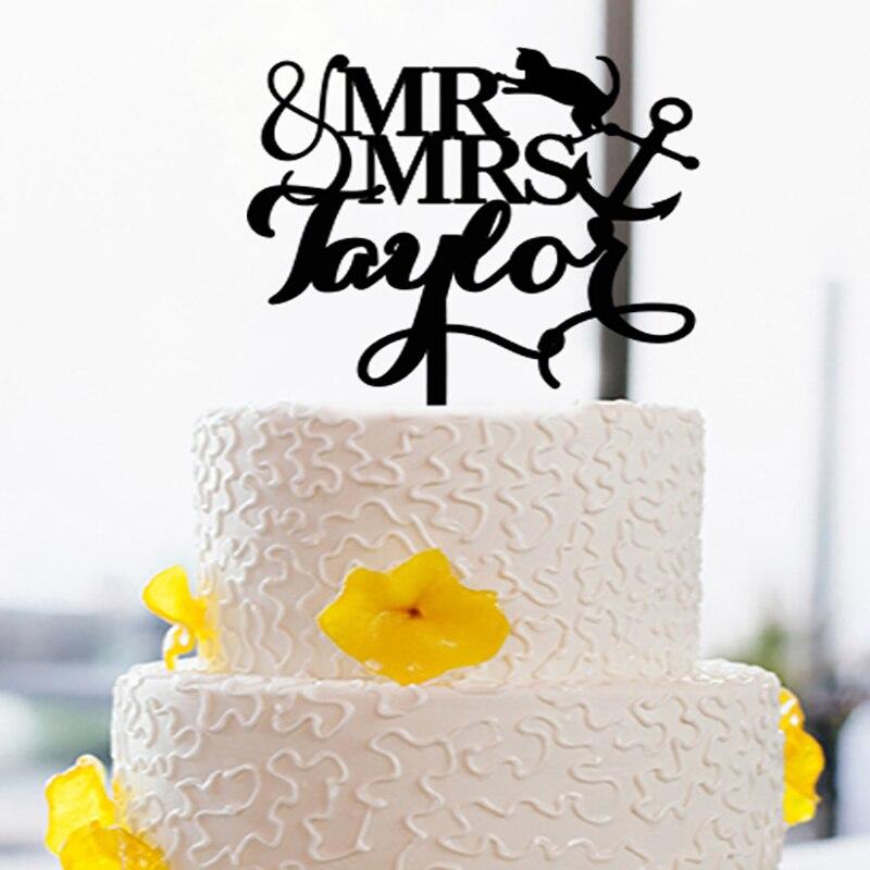 Creative Mr & Mrs Cake Topper para bodas y bodas Acrílico Cake - Para fiestas y celebraciones