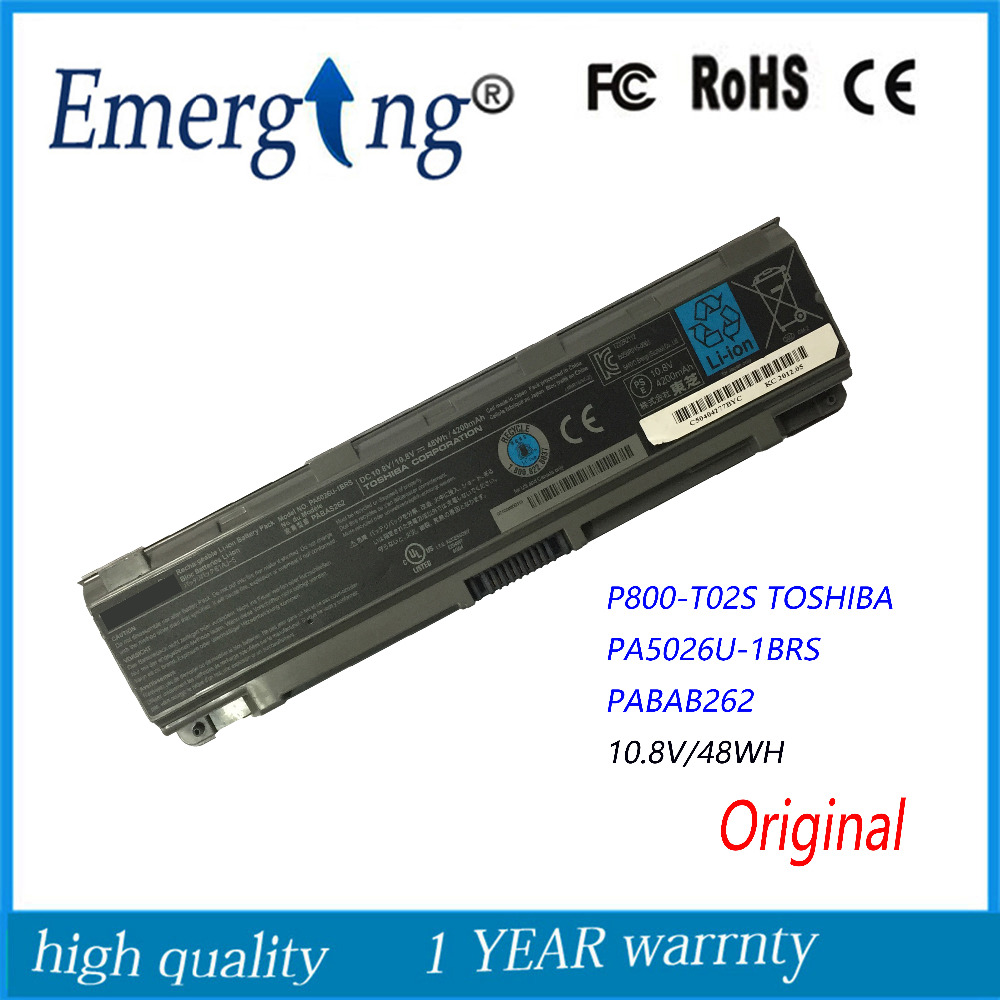 10.8V 48Wh New Original Laptop Battery for <font><b>Toshiba</b></font> <font><b>L800</b></font> M805 L850 PA5026U 1BRS PA5027U-1BRS PA5027U1BRS PA5027 image
