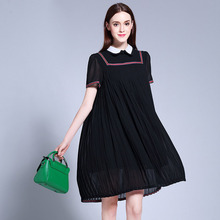 2017 Plus Size 5XL Summer Dress Sexy Evening Party Womens Clothing Beach Club Ladies Ukraine Dresses Black Loose Streetwear