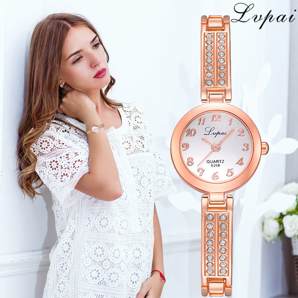 Lvpai Brand Fashion Women Dress Wristwatch Luxury Women Bracelet Watches Ladies Gift Quartz Rose Gold Watch Dropshiping Clock  S