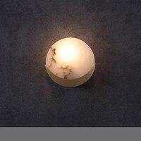 В китайском стиле медь творческие Бра Американский коридор прикроватные для ванной гостиной мраморный Бра Арт лампы ZA423106