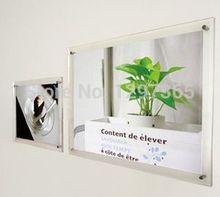 Lovely photo frame acrylic, cheap transparent photo frame for kids 5