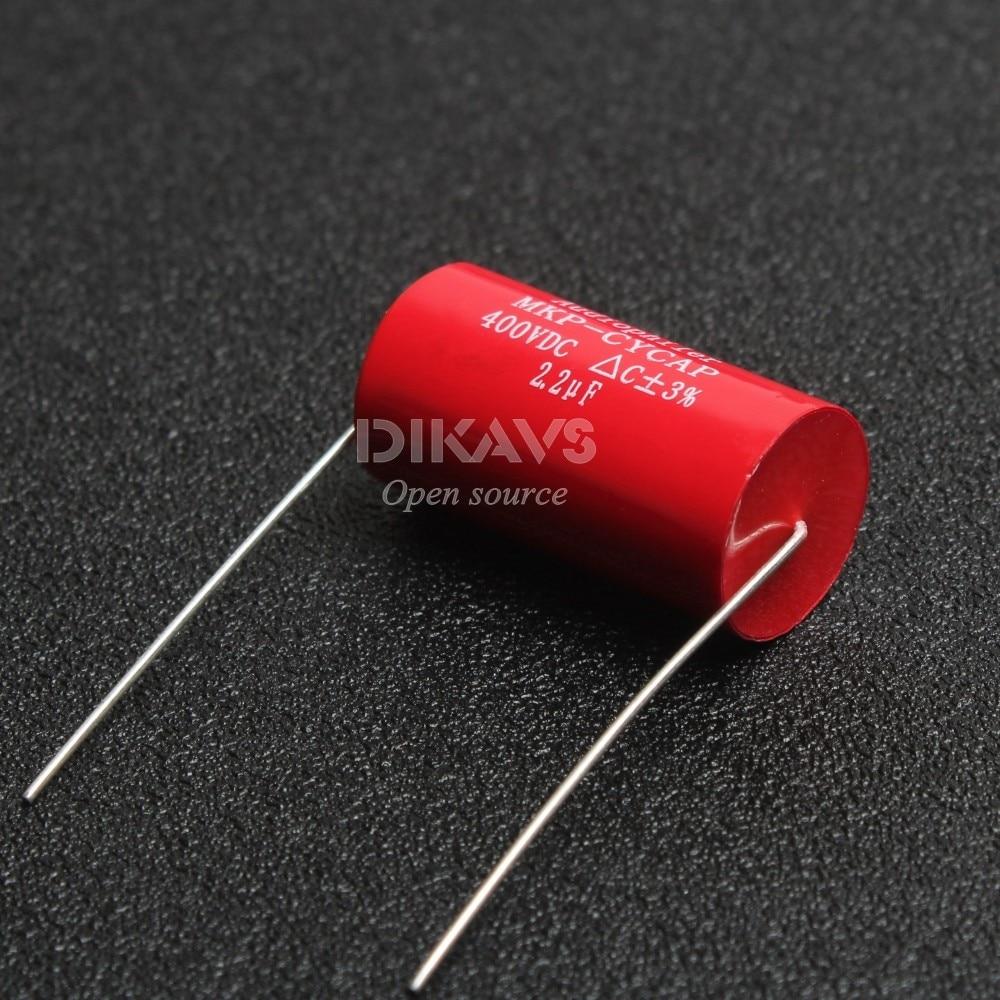 50p Audiophiler 3.3uF 400V Tubular Axial Audio Capacitor