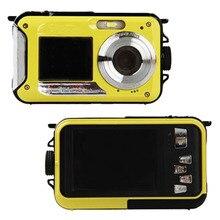 24MP два экрана подводный Цифровая видеокамера HD 1080 P 10 м водонепроницаемый желтый
