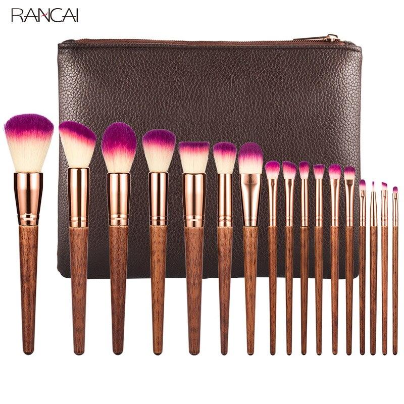 Professionelle 17 stücke Make-Up Pinsel Set Lip Powder Eye Kabuki Make-Up Pinsel Komplette Kit Kosmetik Schönheit Werkzeug blending pinsel