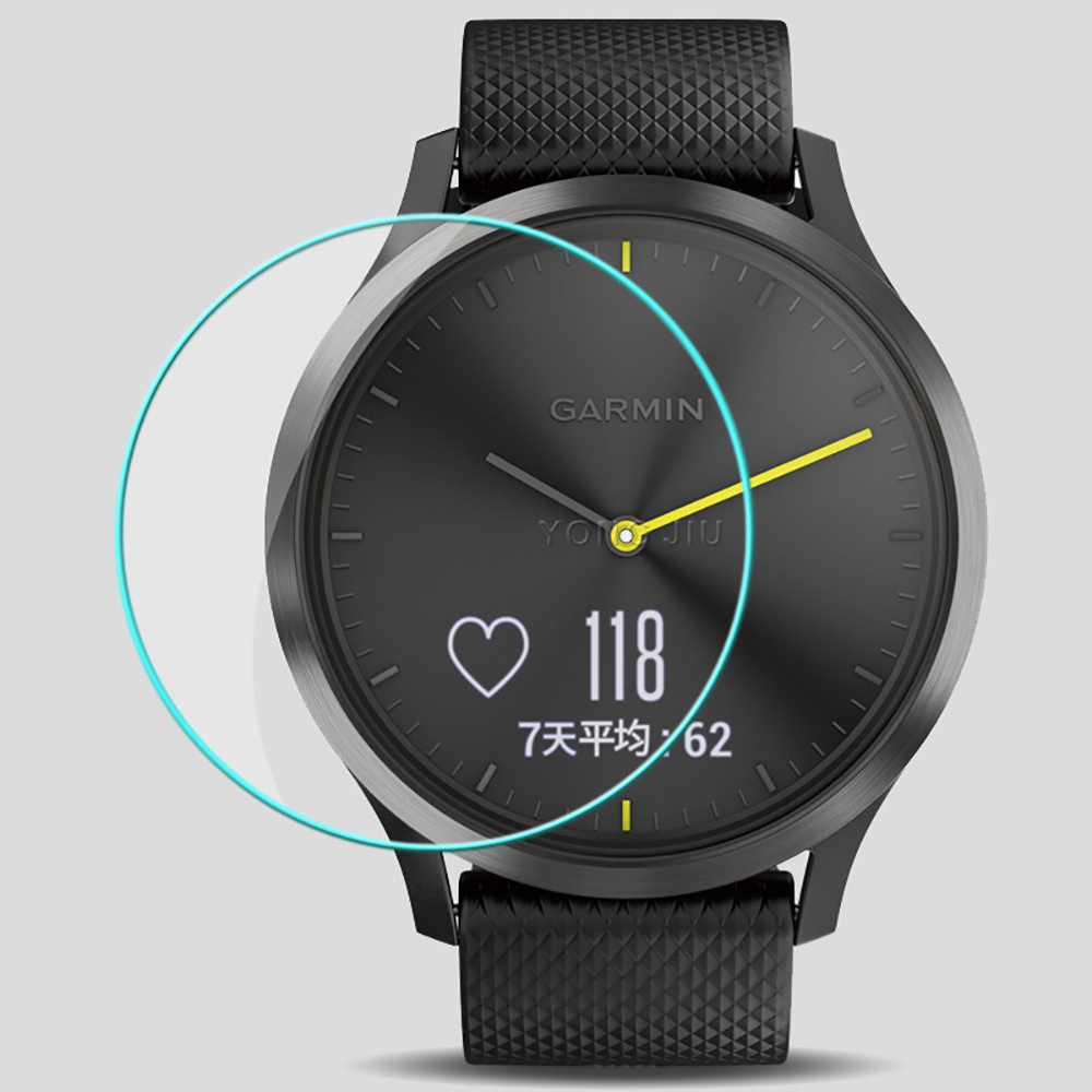 For Garmin Vivomove HR Tempered Glass Screen Protector 0.26mm 2.5D Smart Watch Anti Scratch Film For Garmin Vivo Move HR
