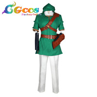 Cosplay Costume The Legend of Zelda link Dresses Clothes Kimono Uniform CGCOS Free Shipping DM413