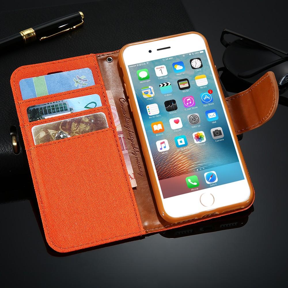 Kisscase stań portfel przerzuć przypadki dla iphone 6 6s 7 5 5S mody hit kolor slot kart skóra pokrywa dla iphone 7 6 s plus z logo 48