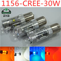 2pcs 1156 30W Cre e LED White cars Fog Head lights Daytime Running Bulb auto Lamp Vehicles Signal Tail parking car light source