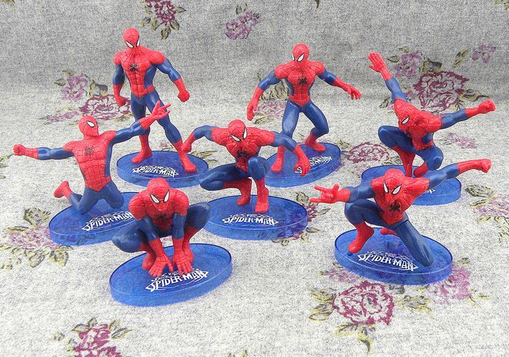 7pcs Super Hero The Avengers Spider Man Spiderman Birthday Cake