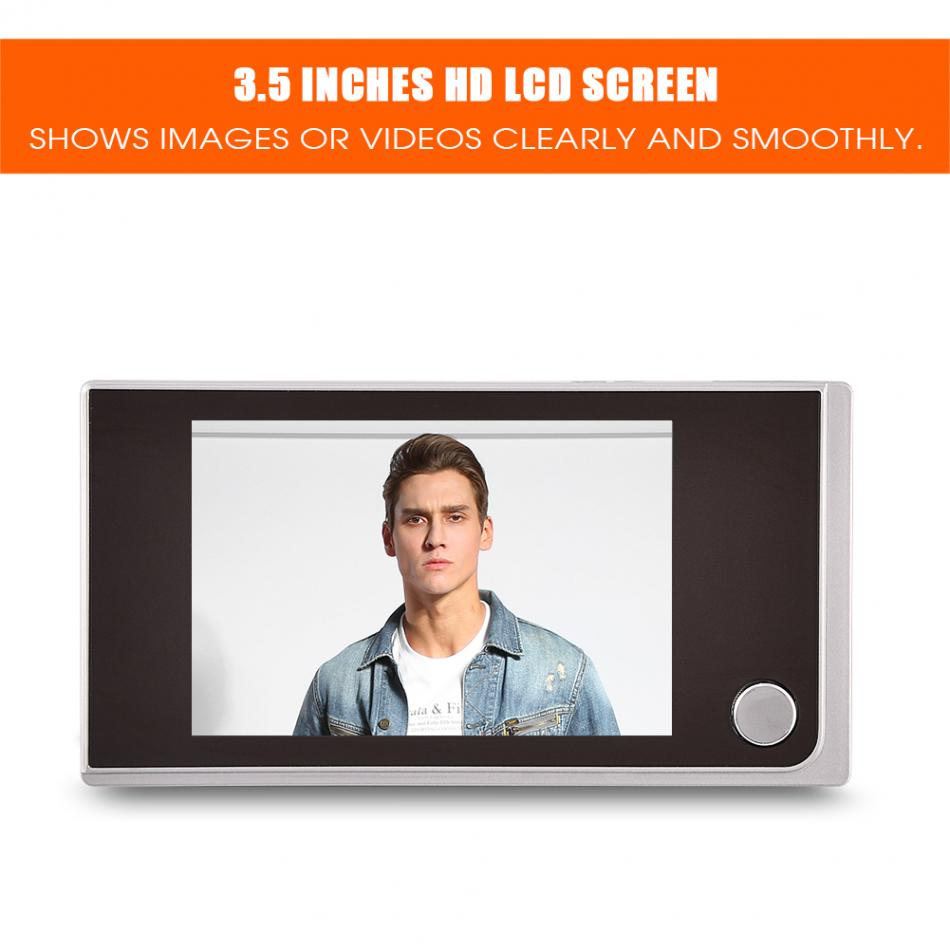 Mini HD Outdoor Peephole Viewer 3.5 inch 120 Degree Indoor LCD Color Screen Visual Video Digital Doorbell 2 4 inch doorbell peephole viewer lcd screen multifunction security camera 120 degree angle view