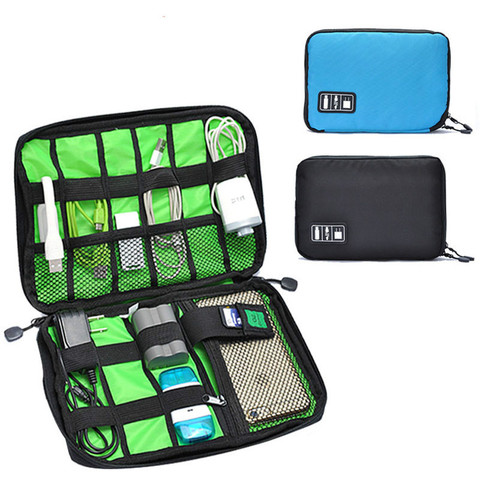 Gadget Cable Organizer Storage Bag Travel Electronic Accessories Cable Pouch Case USB Charger Power Bank Holder Digitals Kit Bag Karachi
