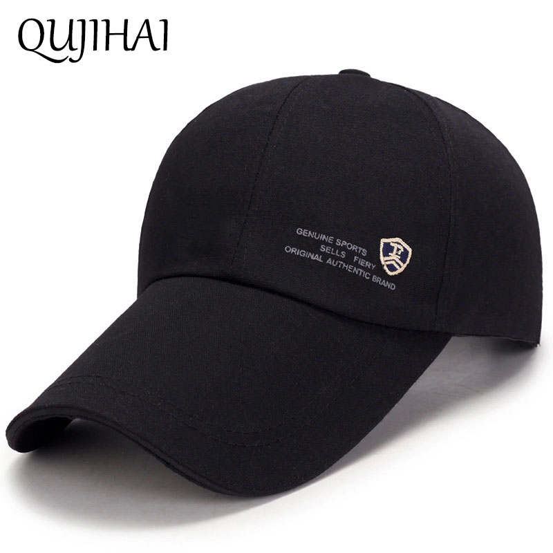 QUJIHAI 2018 New Fashion Sports Baseball Cap Men 10 CM Long Sun Visor Truck Hat Snapback Bone Casquette Gorras Sport Hats fashion sports baseball cap men