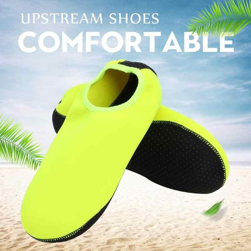 السباحة المياه أكوا أحذية الرجال النساء المياه الشاطئ سريعة الجافة أحذية للجنسين الصيف أكوا لينة رياضية جوارب الغوص غير زلة رياضية