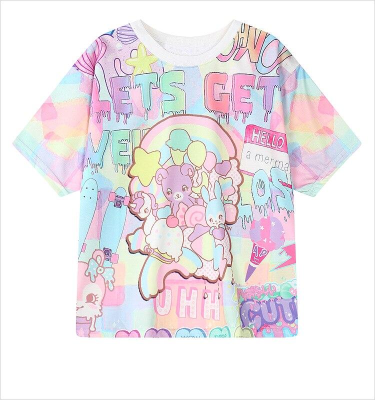 Pastel Goth Girl Wallpaper 2016 Weird Style Tie Dye Women T Shirt Unicorn Rainbow