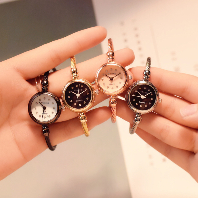 Us 4 31 50 Off Luxury Women S Fashion Diamond Bracelet Watches Stylish Quartz Dress Watch 2018 Ulzzang Brand Gold Silver Woman Clock Gift In