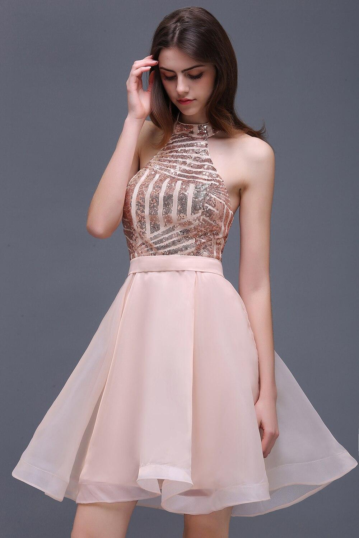 Short Sequin Prom Dress