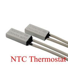 50PCS Thermostat KSD9700/TB05 40C-150C 90C 95C 100 110C 120C 15*7*3.5 Bimetal Disc Temperature Switch Thermal Protector degree