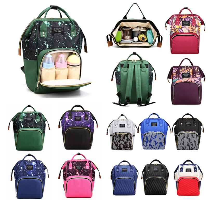 Us 5 68 34 Off Fashion Mummy Backpacks Large Capacity Newborn Baby Diaper Bag Maternity Travel Ping Care Ny Organizer In Bags