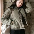 Estudantes novo inverno-quente de algodão acolchoado roupas de lã gola do casaco breve parágrafo feminino