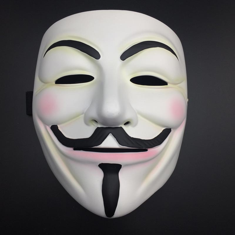 Halloween christmas mask v for vendetta anonymous movie guy fawkes mask cosplay costume resin - Pictures of anonymous mask ...