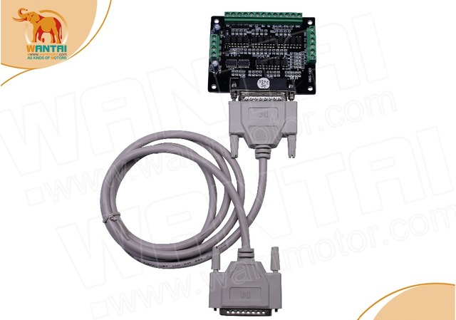 2Axis Nema 34 Stepper motor with 12N.m, 6.0A & 2 matching DQ860MA Driver, 80VDC,7.8A* 2 pcs Power Suppliers& DB25 Breakout board