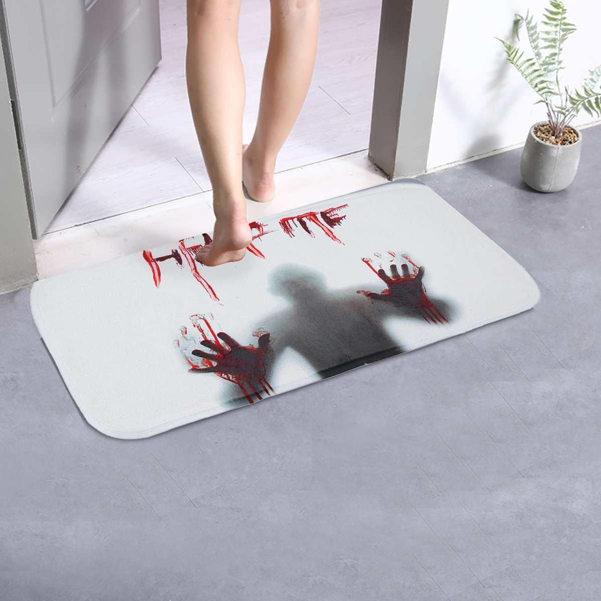 Anti Slip Floor Mats Halloween Design Stair Pad Horrible Doormats Carpet Kitchen Bathroom Parlor Floor Step Mat 66.5x23cm