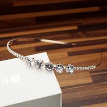 37906e133bdb Lujo Bling las niñas y las mujeres de moda coreana accesorios para el  cabello brillante redondo CZ Rosa diadema de oro de crista.