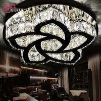 New Design K9 Crystal LED Ceiling Light Modern Crystal Ceiling Lamp For Living Room Plafon Cristal