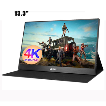 4K Monitor 13.3 inch Portable LCD with Mobile Phone  Slim HDMI / DP / Headphone for Mac / PC / Smartphone / PS4