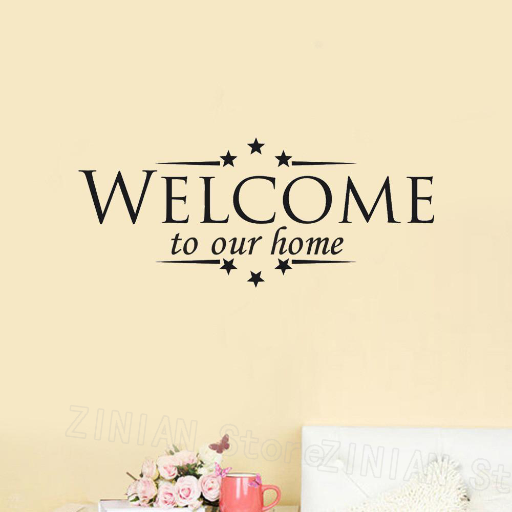 WELCOME to Our Home Wall Stickers Home Decor Living Room ...