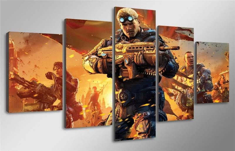 Game Poster Gears Of War Judgment Canvas Painting Home Decor Wall Pictures For Living Room Wall Art Modular Pictures drop ship