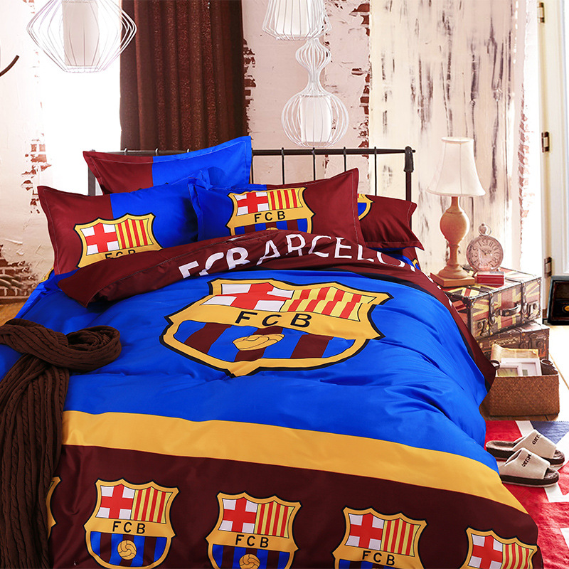 Madrid Real Barcelona Duvet Cover Set Super Mario Bedding Queen Size Kids Pillowcases Bed Sheet