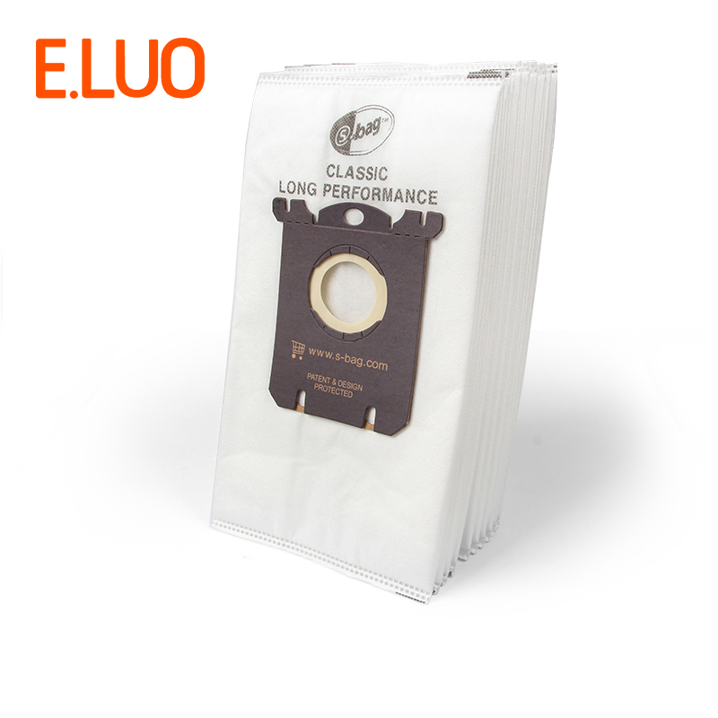 10 шт. S-BAG белый нетканый материал Пылесосы для автомобиля сумки и фильтр пылесборники запчасти FC8202