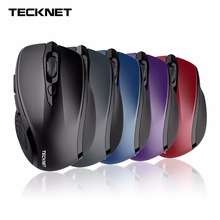 TeckNet Wireless Mouse USB 2600DPI Adjustable USB Receiver Optical Computer Mouse 2.4GHz Ergonomic Mice For Laptop PC Mouse factory price hot selling 2 4ghz mice optical mouse cordless usb receiver pc computer wireless for laptop drop shipping