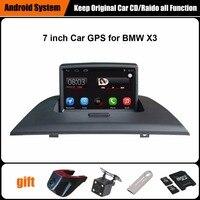 7 بوصة شاشة السعة اللمس سيارة مشغل الوسائط لسيارات bmw x3 e83 gps للملاحة بلوتوث مشغل فيديو دعم wifi