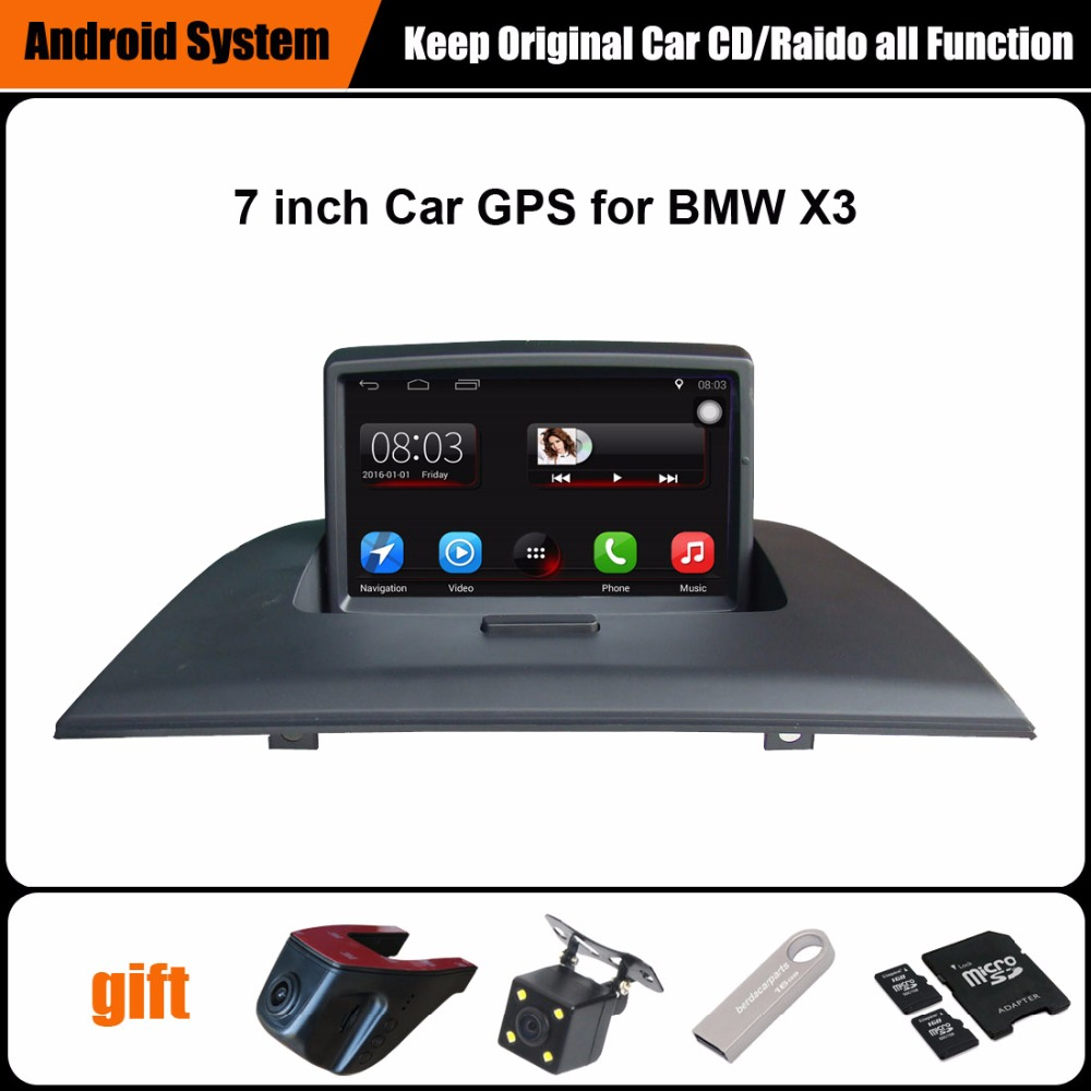 7 inch Android 7 1 Capacitance Touch Screen Car Media Player for BMW X3 E83  GPS Navigation Bluetooth Video player Support WiFi