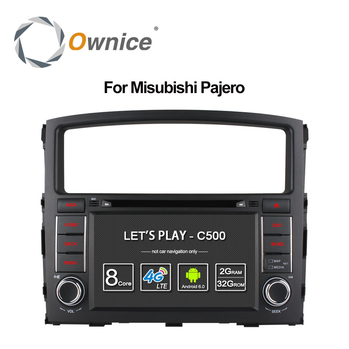 Ownice C500 Octa 8 Core Android 6.0 For MITSUBISHI PAJERO V97 V93 2006-2015 Car DVD Player GPS Navi support 4G DAB+ TPMS 32G ROM