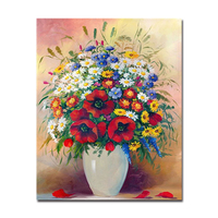 DIY Digit Oil Painting By Numbers Kits HandPainted Canvas Beautiful Colorful Flowers Pictures Home Decor Wall