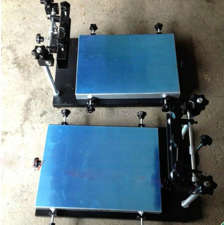 New Manual solder paste printer,PCB SMT stencil printer M size 440x320mm 1pc high precision manual pcb silk screen press precise solder paste printing machine