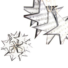 12pc Twinkle Sheet Music Star Embellishments Garland Christmas Tree Ornaments Home Nursery Music-themed Decor