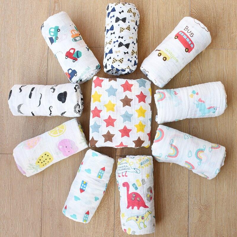 ROSA SCHWAN 100% Musselin Baumwolle Baby Swaddle Decke Multi-verwenden Neugeborenen Swaddle Säuglings Gaze Sowohl Handtuch Baby Warp Kinderwagen abdeckung
