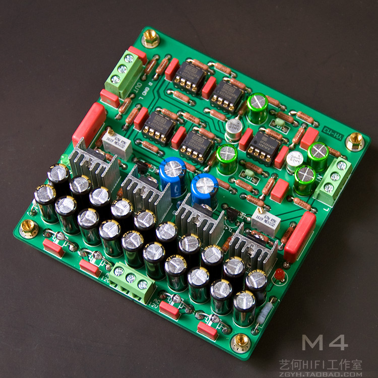 Assemble M4 HIFI OPA2604 OPA2134 op amp array Pre-amplifier / Amplifier Board freeshipping ne5532 op amp grade fever before the hifi amplifier board