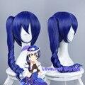 Ohcos love live sonoda umi 65 cm longo encaracolado sintético perucas peruca cosplay peruca