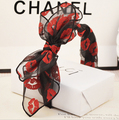 bohemian vintage punk red lip print lace big double bow wide headband hairband hair accessories